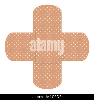 Two cross plasters isolated on  white background - Stock Photo