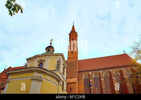 Cathedral of St. Vincent and St. James (Wincent i Jakub) in Wroclaw. Gothic church located in the Old Town district - Stock Photo