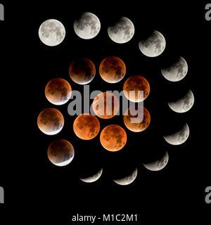 Lunar Eclipse 2015 - Stock Photo