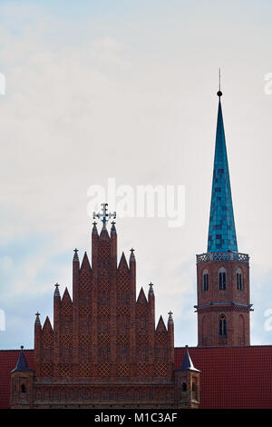 St. Adalbert's Church in Wroclaw Lower Silesian, Poland. The oldest church on the left bank of the Odra River. Founded - Stock Photo