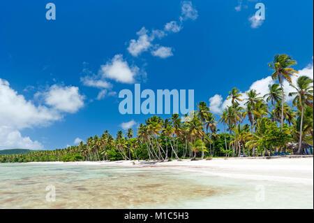 Beautiful tropical Caribbean beach on Samaná peninsula, Dominican Republic - Stock Photo