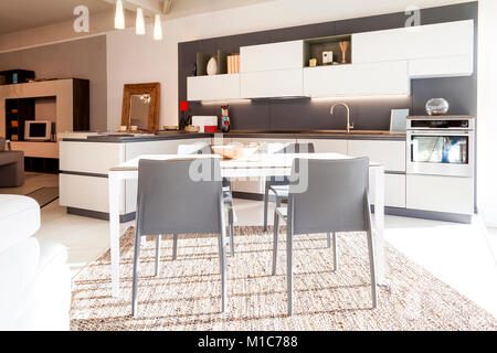 home interior modern beautiful apartment in new luxury location - Stock Photo