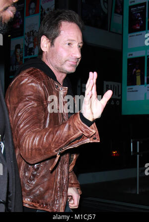 New York, NY, USA. 29th Jan, 2018. David Duchovny at Build Series promoting new season of X-Files and new music - Stock Photo