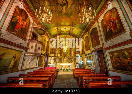 'Igreja Sao Sebastiao Church', Camara de Lobos, Madeira, Portugal, Kirche ´Igreja Sao Sebastiao´,  Camara de Lobos - Stock Photo