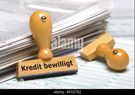 Stempel mit Aufdruck Kredit bewilligt - Stock Photo
