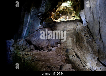White Elephant cave in Phnom Sorsir hill, surroundings of Kep, Cambodia - Stock Photo