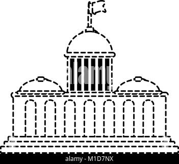 capitol vector illustration - Stock Photo