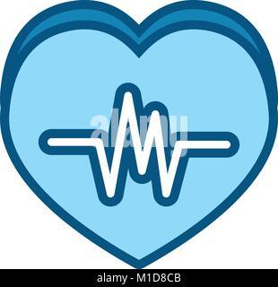 heart ecg design - Stock Photo