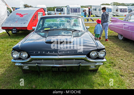 a 64 vintage classic thunderbird motor car - Stock Photo
