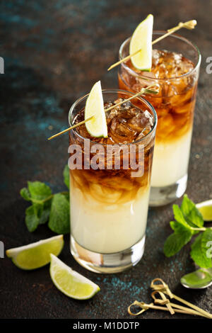 Dark and stormy cocktail - Stock Photo