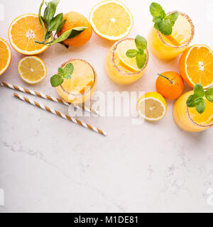 Orange and lemon margarita cocktail - Stock Photo