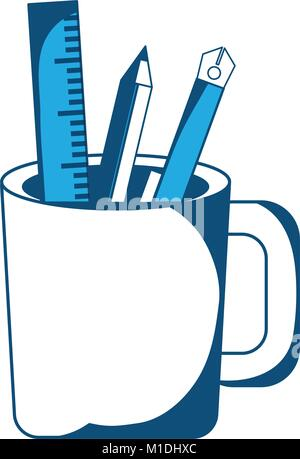 Pencil cup holder icon - Stock Photo