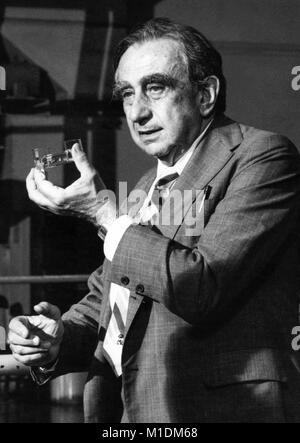 Dr. Edward Teller (1908–2003) was a Hungarian-American theoretical physicist involved in the Manhattan Project and - Stock Photo