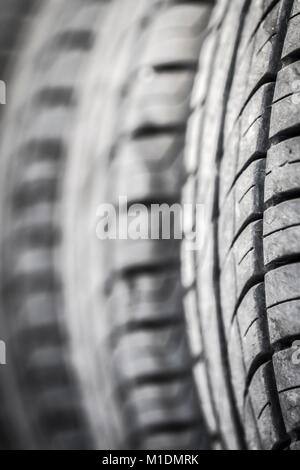 Protector of old car tires close-up. - Stock Photo