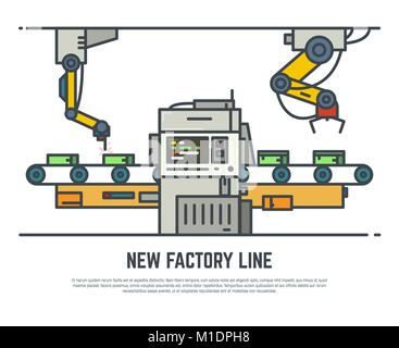 Factory belt line - Stock Photo