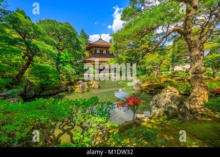 Ginkaku-ji Temple Kyoto - Stock Photo