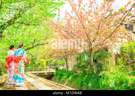 Philosopher's Walk women kimono - Stock Photo
