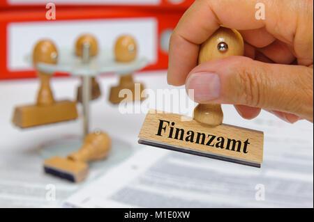 Stempel mit Aufschrift Finanzamt - Stock Photo