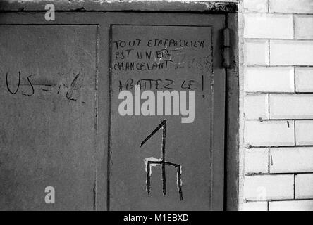 Philippe Gras / Le Pictorium -  Events of may 1968 in FRANCE. -  1968  -  France / Ile-de-France (region) / Paris - Stock Photo
