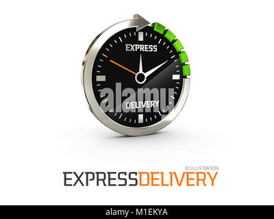 Express delivery icon for apps and website. Delivery concept. 3D illustration - Stock Photo