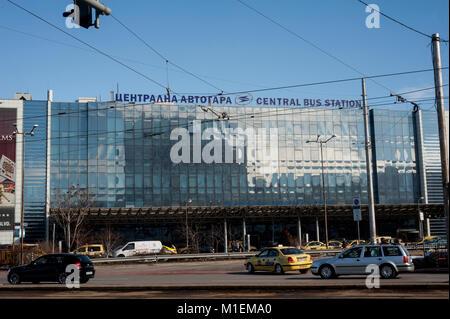 Sofia Central Bus Station Bulgaria - Stock Photo