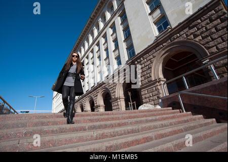 Street Scenes in Sofia Bulgaria - Stock Photo