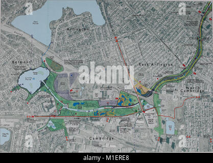 Alewife Reservation and Alewife Brook master plan (2003) (17950367401) - Stock Photo