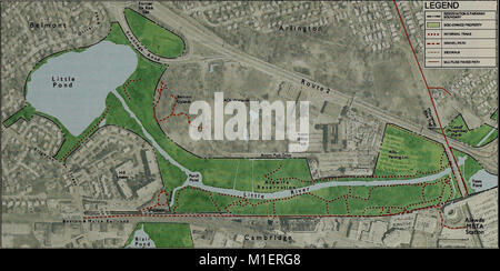 Alewife Reservation and Alewife Brook master plan (2003) (17946487062) - Stock Photo