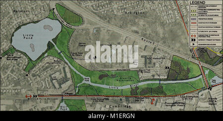 Alewife Reservation and Alewife Brook master plan (2003) (17923165586) - Stock Photo