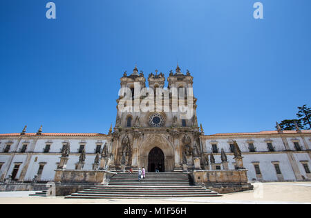 ALCOBACA, PORTUGAL, JUNE 18, 2016 - The Monastery of Saint Mary of Alcobaca, in central Portugal, Europe. UNESCO World Heritage Site since 1989