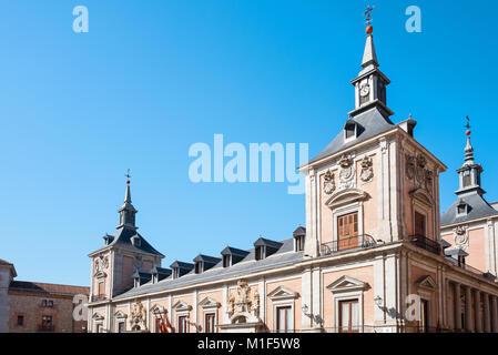 Spain, Madrid, the former Town Hall in De La Villa square - Stock Photo