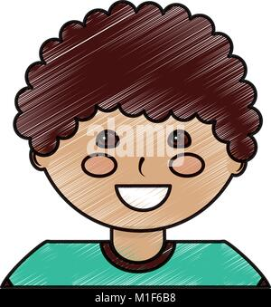 portrait happy young boy character - Stock Photo