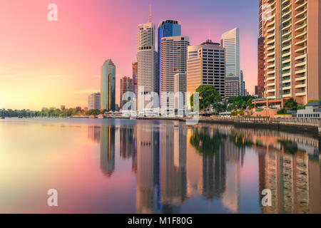 Brisbane. Cityscape image of Brisbane skyline, Australia during sunrise. - Stock Photo