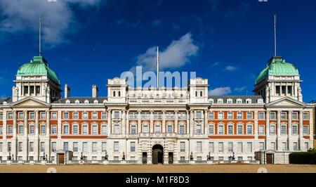 The facade of Admiralty House at Horse Guards Parade, London. - Stock Photo