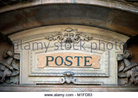 post office, the postal building, milan - Stock Photo