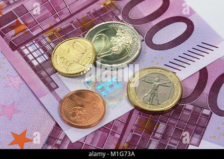 500 Euro, European Central Bank banknotes - Stock Photo