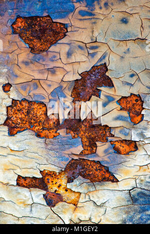 Peeling paint on old building in Detroit, Michigan - Stock Photo