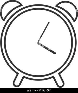 Web line icon. Alarm clock - Stock Photo