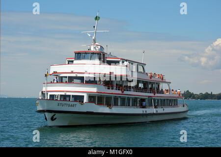 Passenger ship on Lake Constance near Lindau - Germany. - Stock Photo