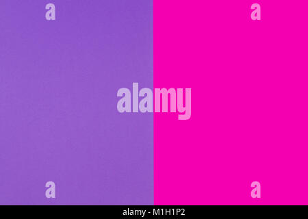 Two tone of pink and purple paper background - Stock Photo