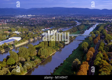 Mannheim, Blick vom Fernmeldeturm - Stock Photo