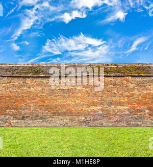 brick  wall horizontal endless seamless pattern - Stock Photo