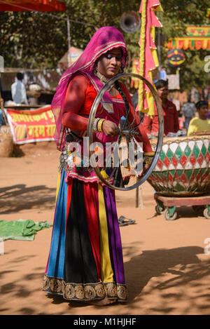 Rajasthani folk musicians, Udaipur, India - Stock Photo