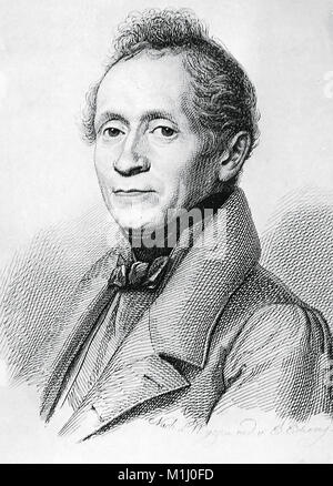 JOSEPH von EICHENDORFF (1788-1857)  Prussian novelist and poet - Stock Photo