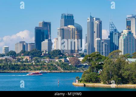 Skyline of Sydney CBD in daytime - Stock Photo