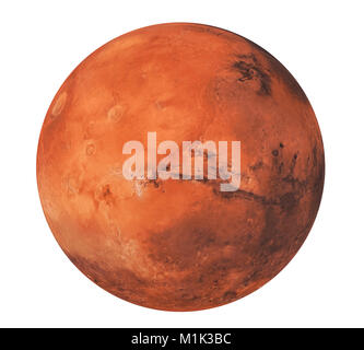 Planet Mars Isolated (Elements of this image furnished by NASA) - Stock Photo