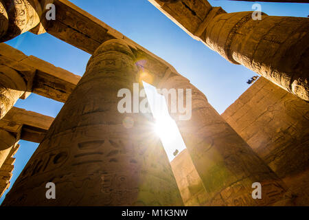 The Karnak temple in Luxor Egypt January 2018 - Stock Photo