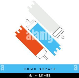 Home Repair Vector Icon Set - Stock Photo