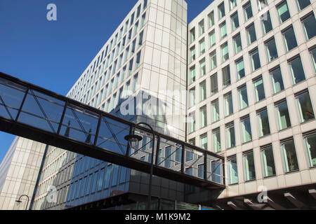 Germany, Cologne, the building Vierscheibenhaus of the Westdeutscher Rundfunk or West German Broadcasting Cologne, - Stock Photo