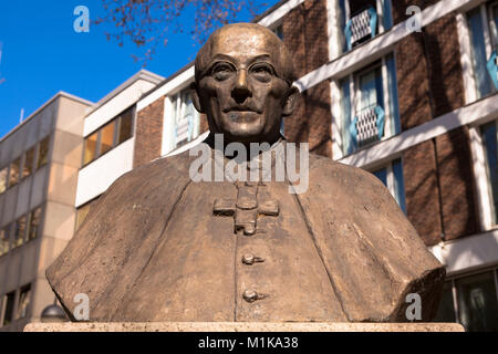 Germany, Cologne, monument for Josef Kardinal Frings, Archbishop of Cologne from 1942 to 1969 on the Laurenz square. - Stock Photo